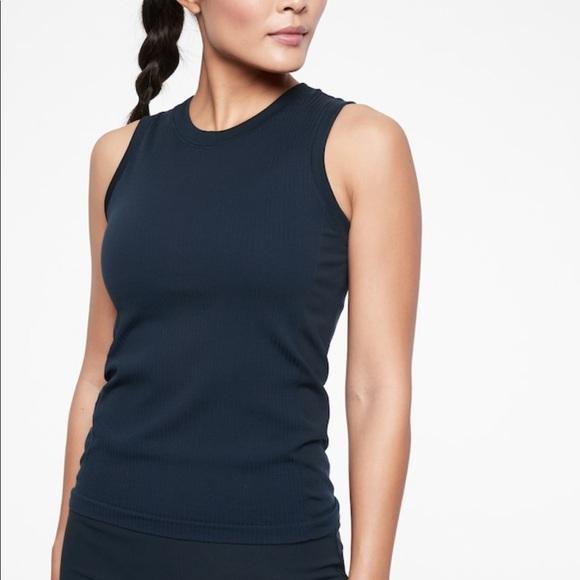Athleta NWT Women/'s Renew High Hip Ribbed Tank Size XSmall Color White